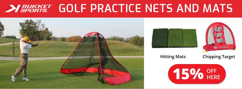 Rukket Sports golf practice nets and mats 15 percent discount for womens golf readers